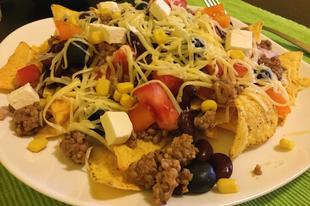 Sajtos Nachos darált hússal (glutén és laktózmentes)