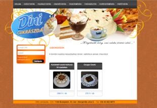 Dinicuki honlapjának nyitóoldala