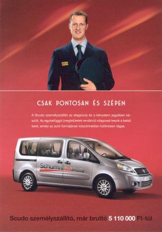 Schumi a furgon reklámarca