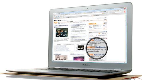 Index.hu címlap 2007. január 16-án reggel MacBook Air-en. Kép: Apple.com. Készült: Jano Labs