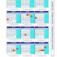 2014-es munkaidő naptár