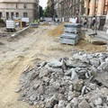 Tudósítás a felújításról: közelharcot kell vívni a járdáért a Podmaniczky téren