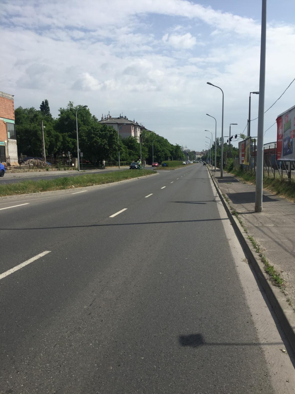Ezen a fővárosi útszakaszon is elférne néhány fa.