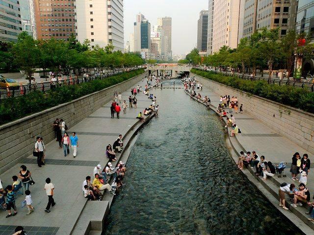 Cheonggyecheon, Szöül, Dél-Korea