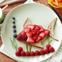 Epres hal alakú szendvics