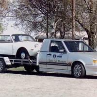 Matchbox Saab Solstad car transporter építés