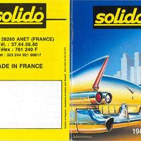 Solido katalógus 1989