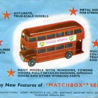 Matchbox katalógus 1958