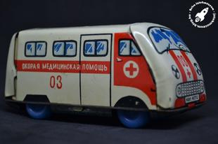 Szovjet lemez mentőautó