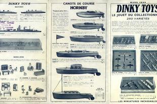 Dinky katalógusok (1939, 1952, 1953)