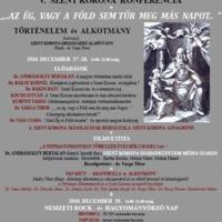 V. Szent Korona Konferencia