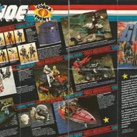 G.I.Joe kihajtogatható katalógusok 1986