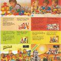 Kihajtogatható, többnyelvű Lego Insert 1985-ből