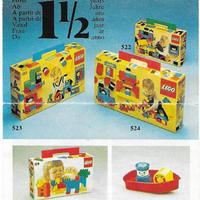 1978-as kihajtogatható Lego insert