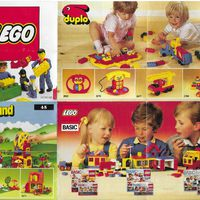 Kihajtogatható Lego insert 1987-ből