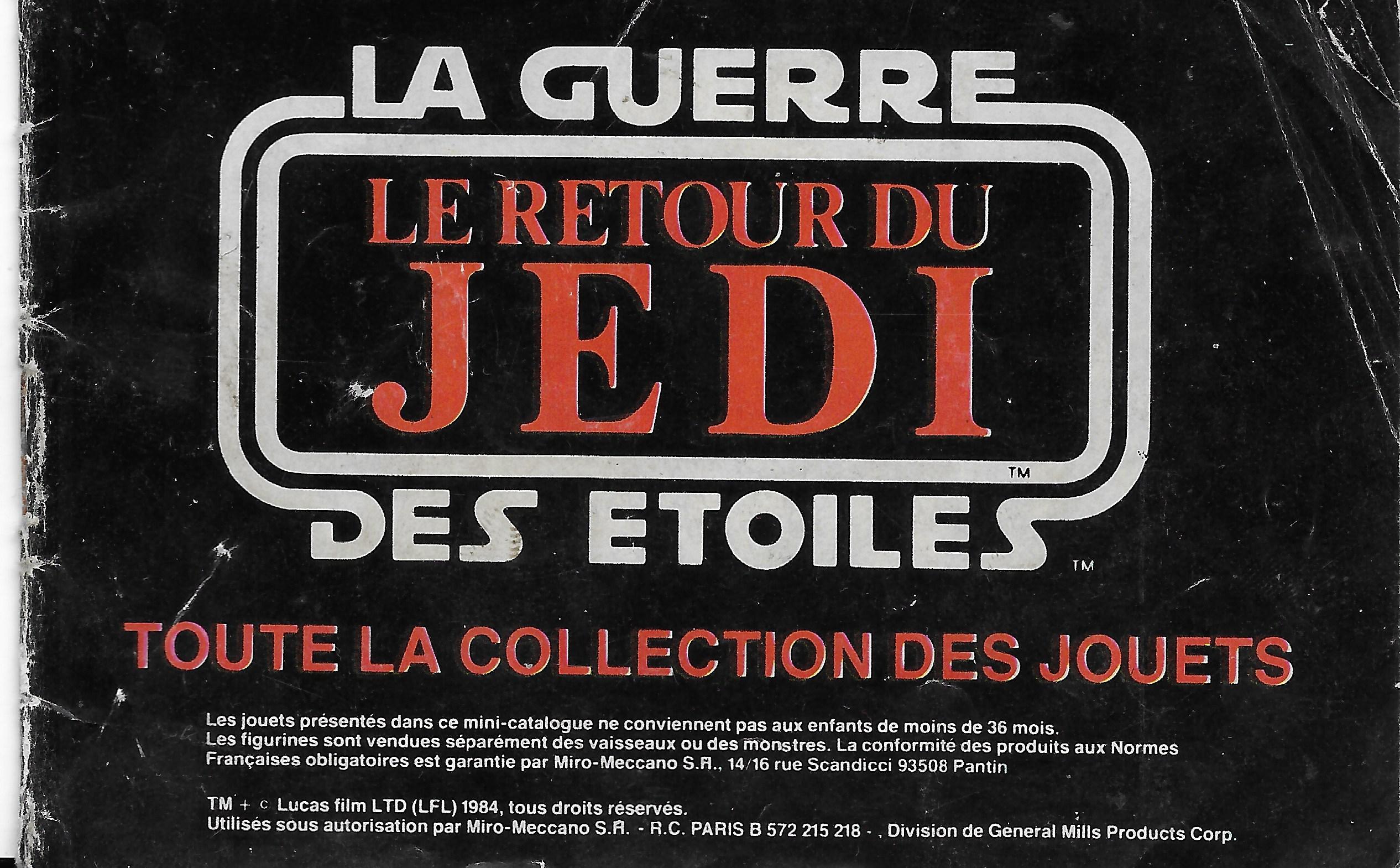 Francia vintage Star Wars katalógus 1984-ből