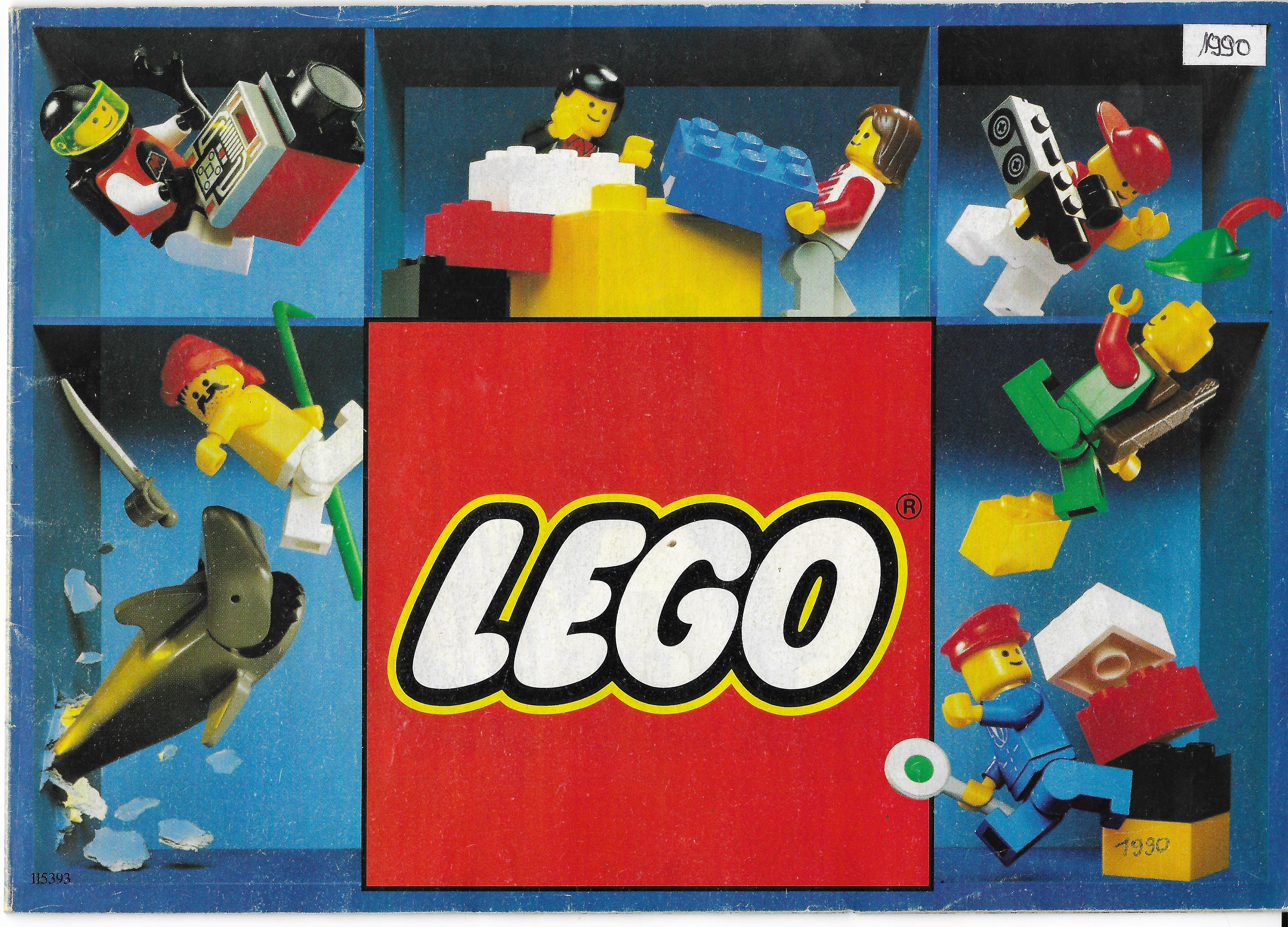 32 oldalas Lego katalógus 1990-ből
