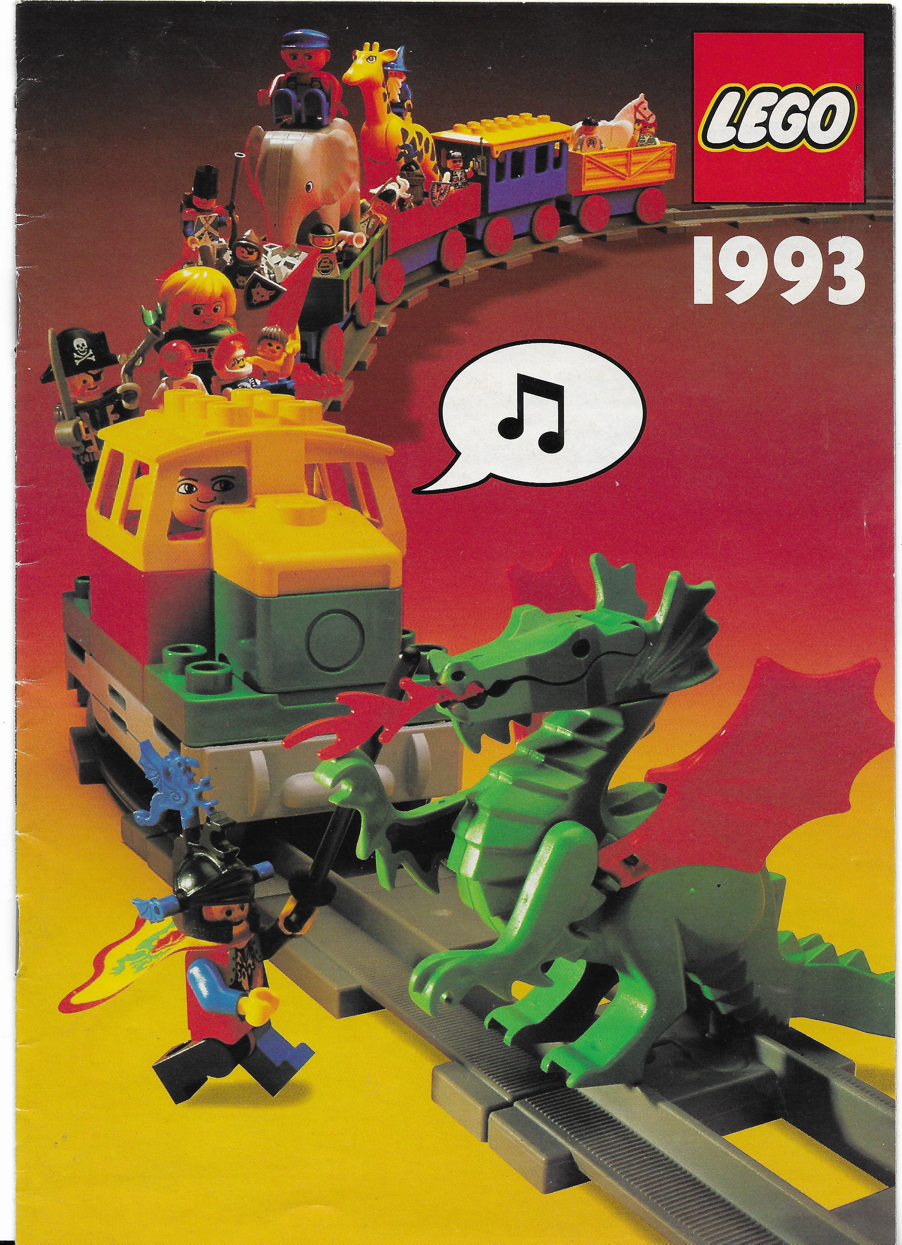 Magyar nyelvű, álló formátumú Lego katalógus 93-ból