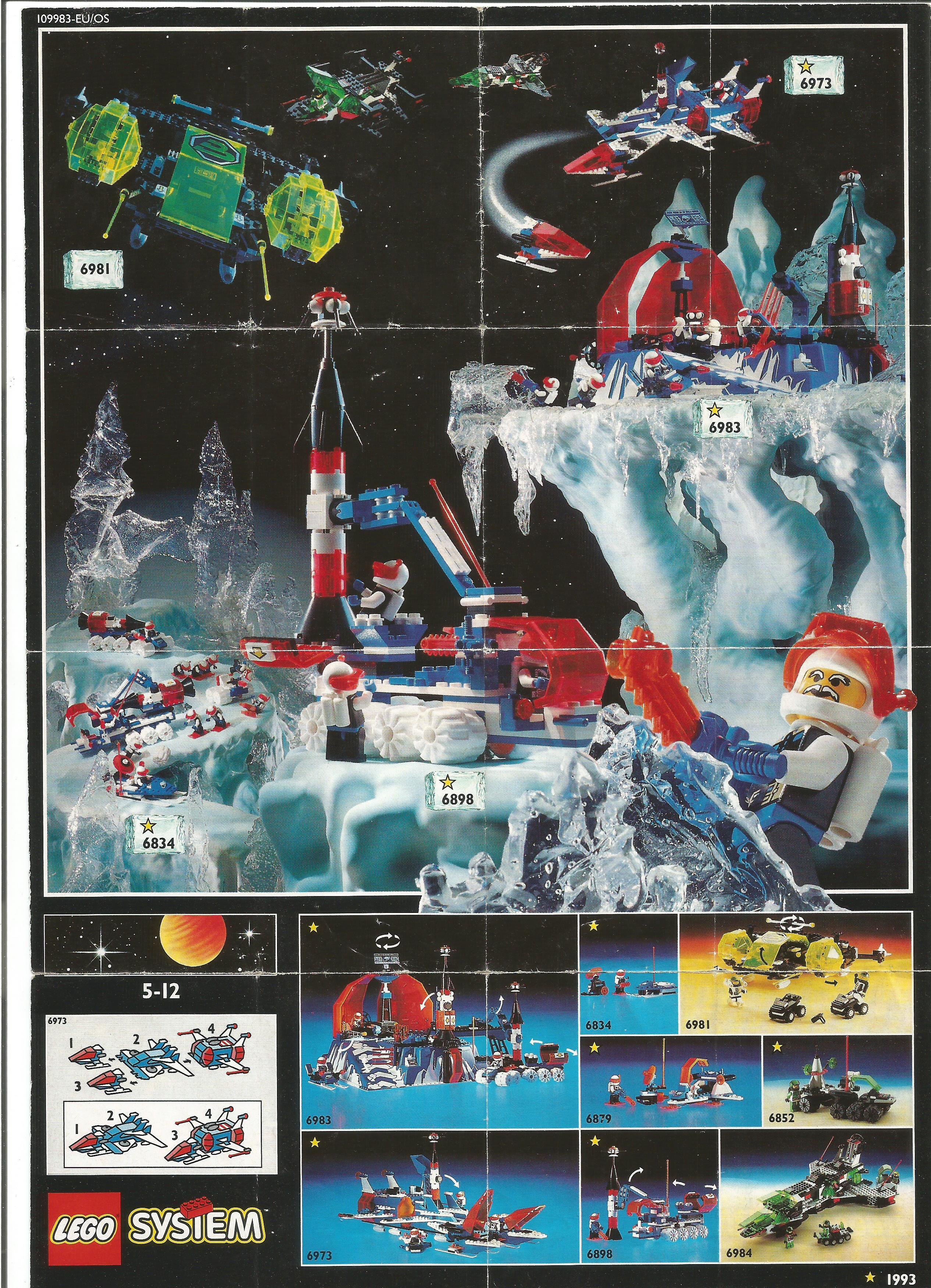 Egylapos Lego insert 1993-ból