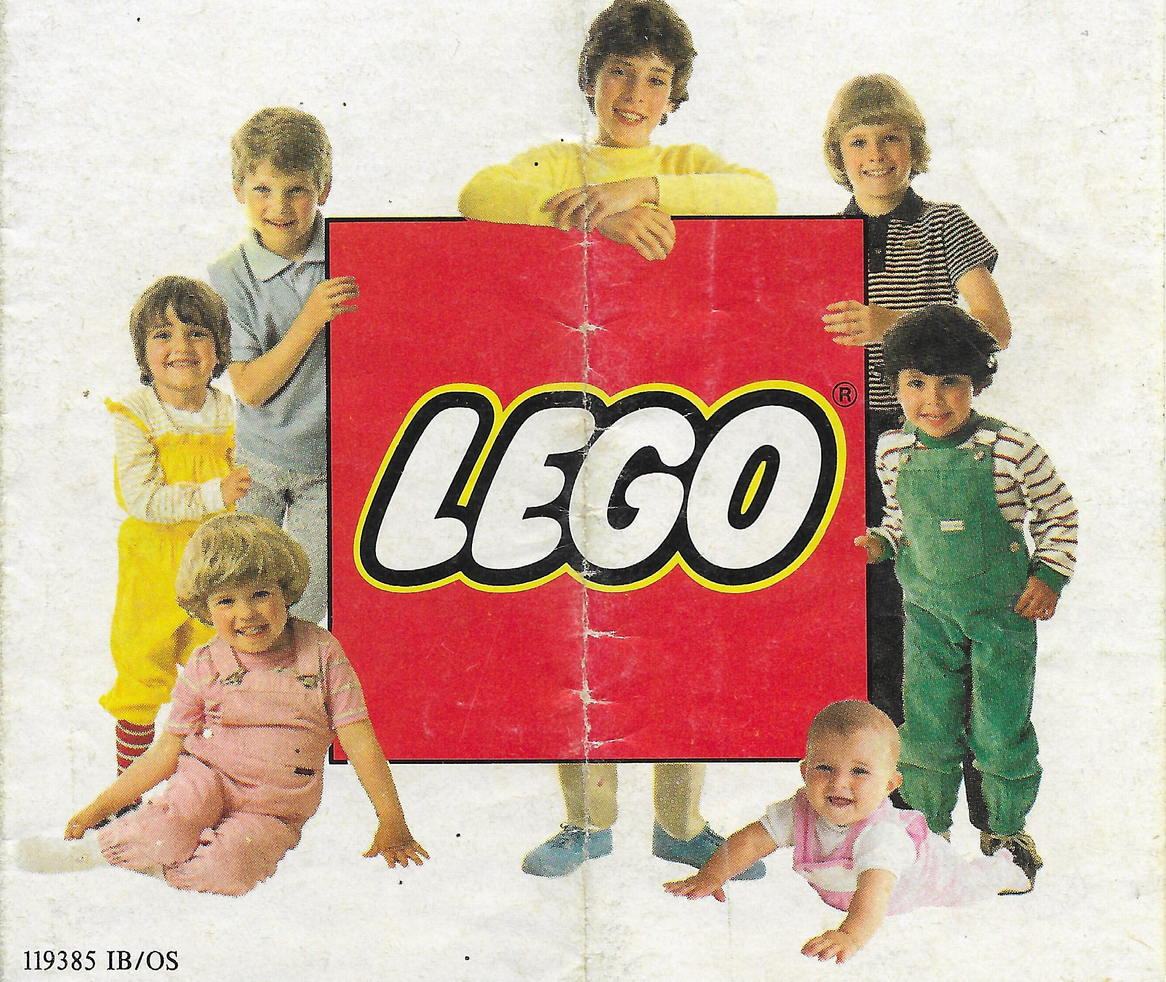 1983-as kihajtogatható Lego insert
