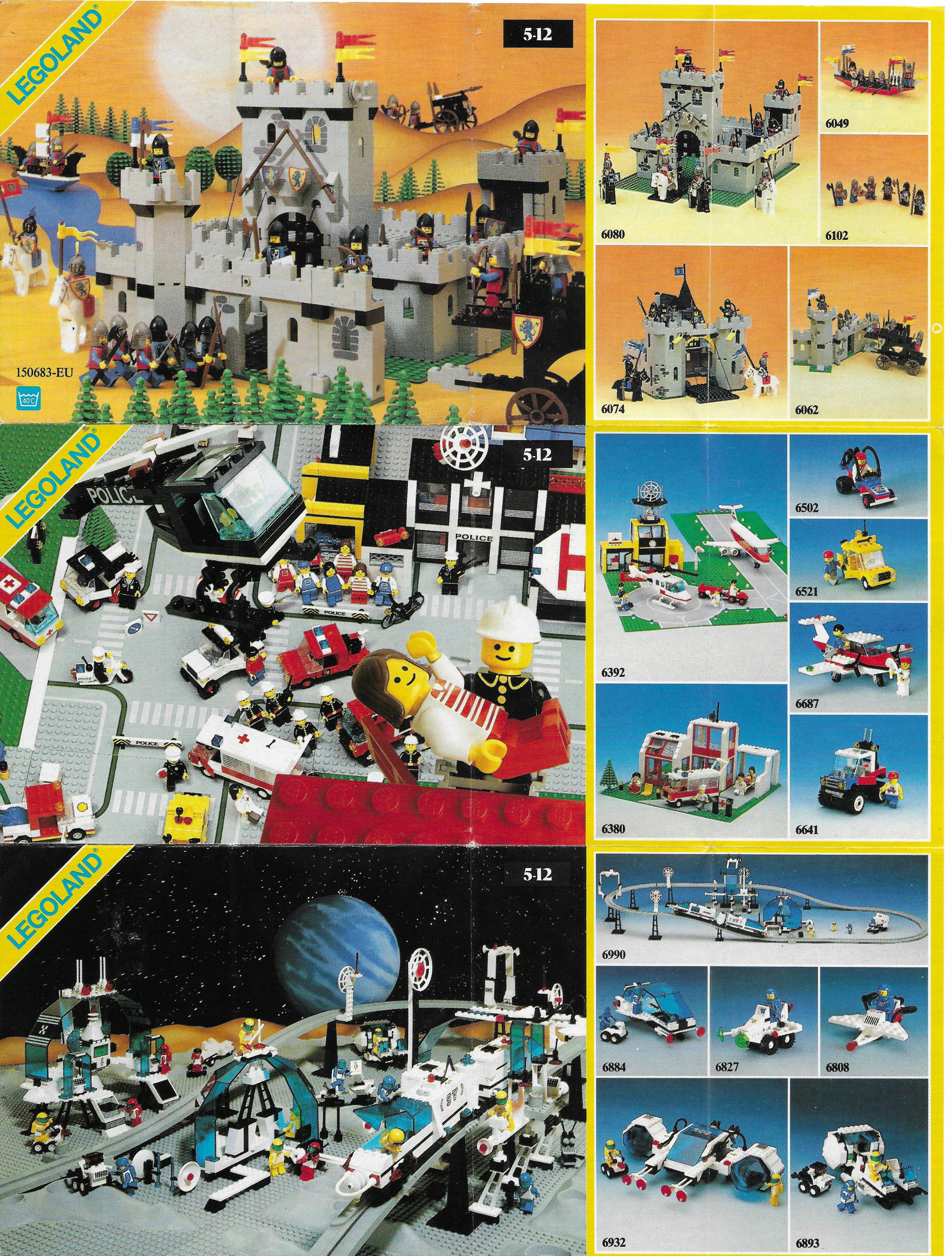 Egy másik kihajtogatható Lego insert 1987-ből
