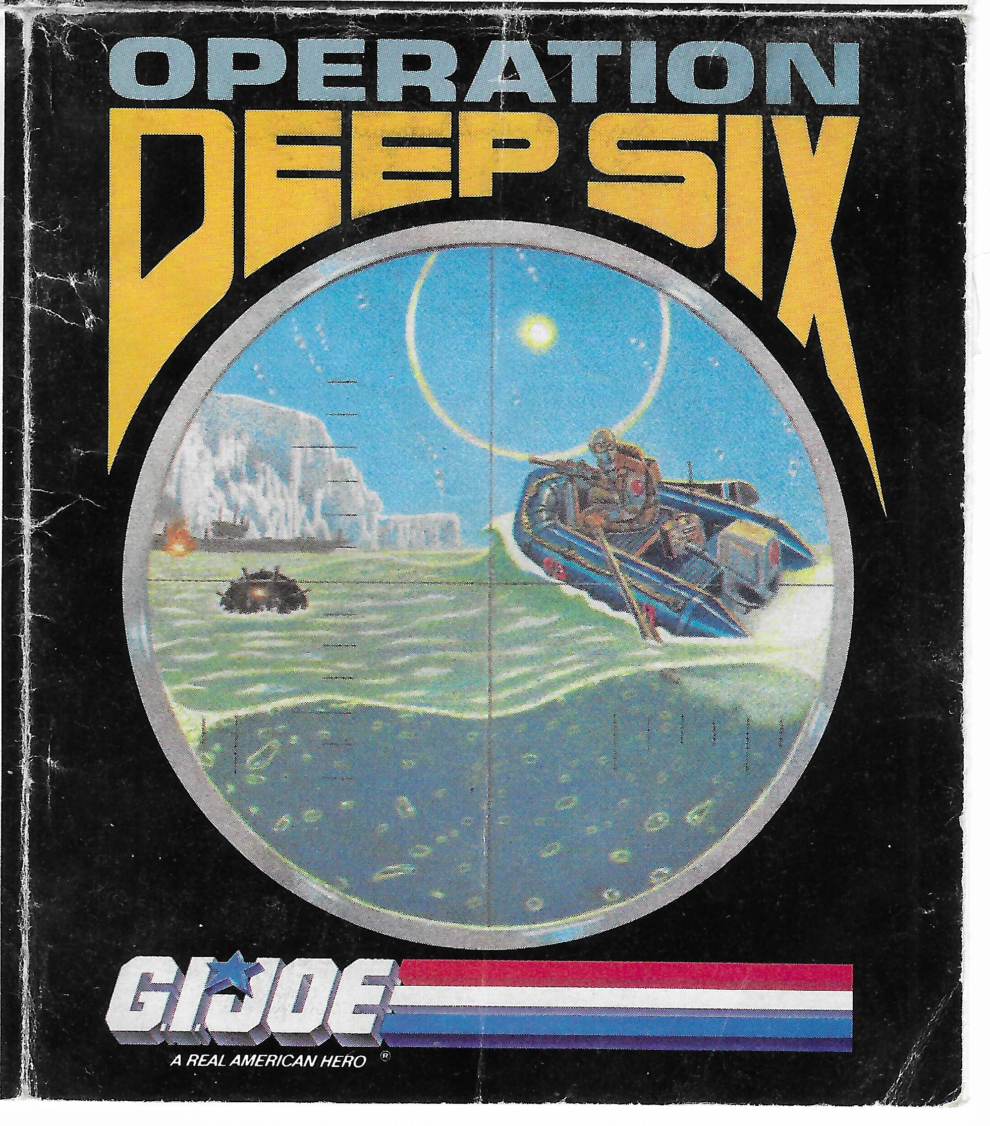 "Az ""Operation Deep Six"" G.I.Joe insert 1988-ból"