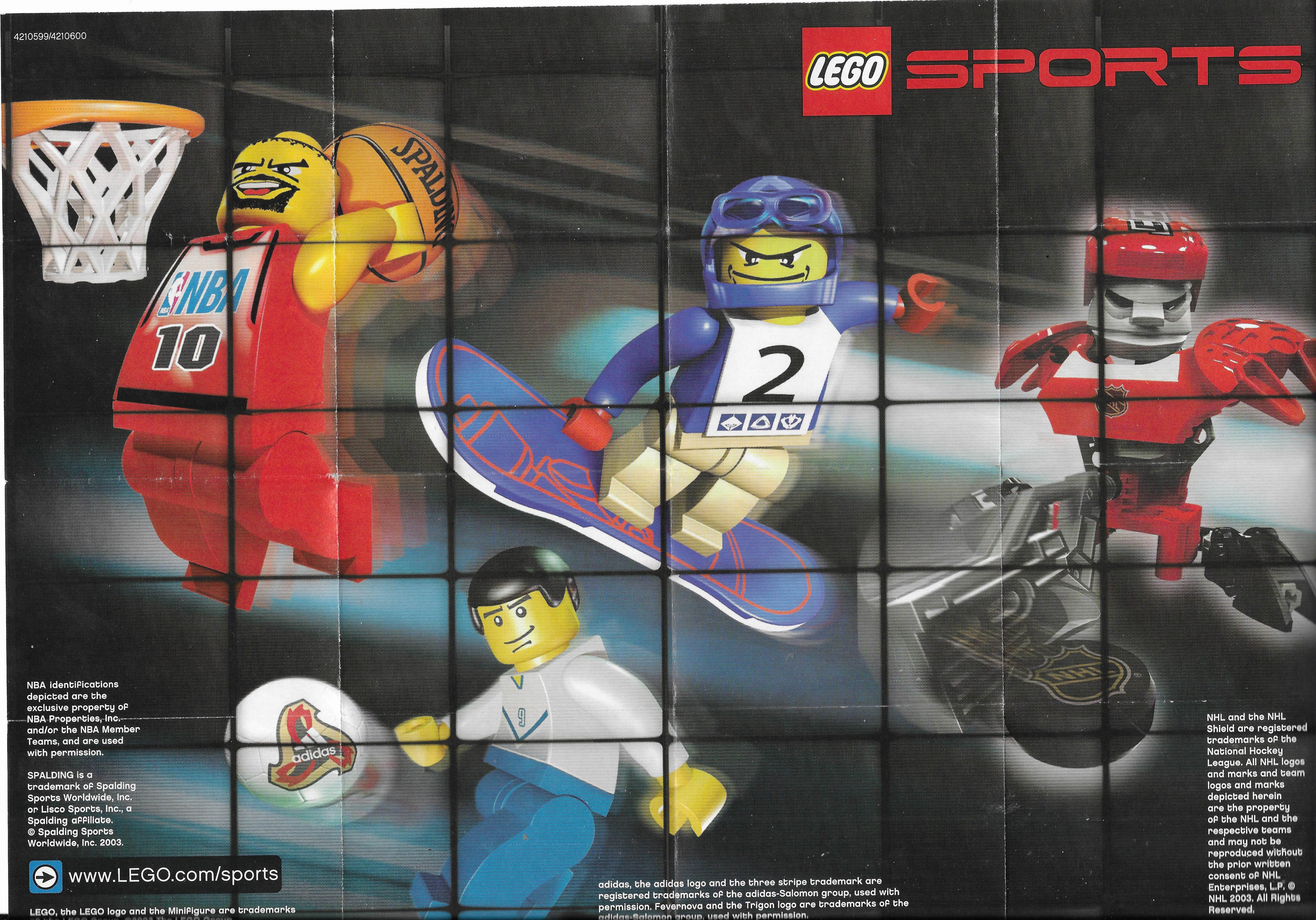 Lego Sports insert 2003-ból