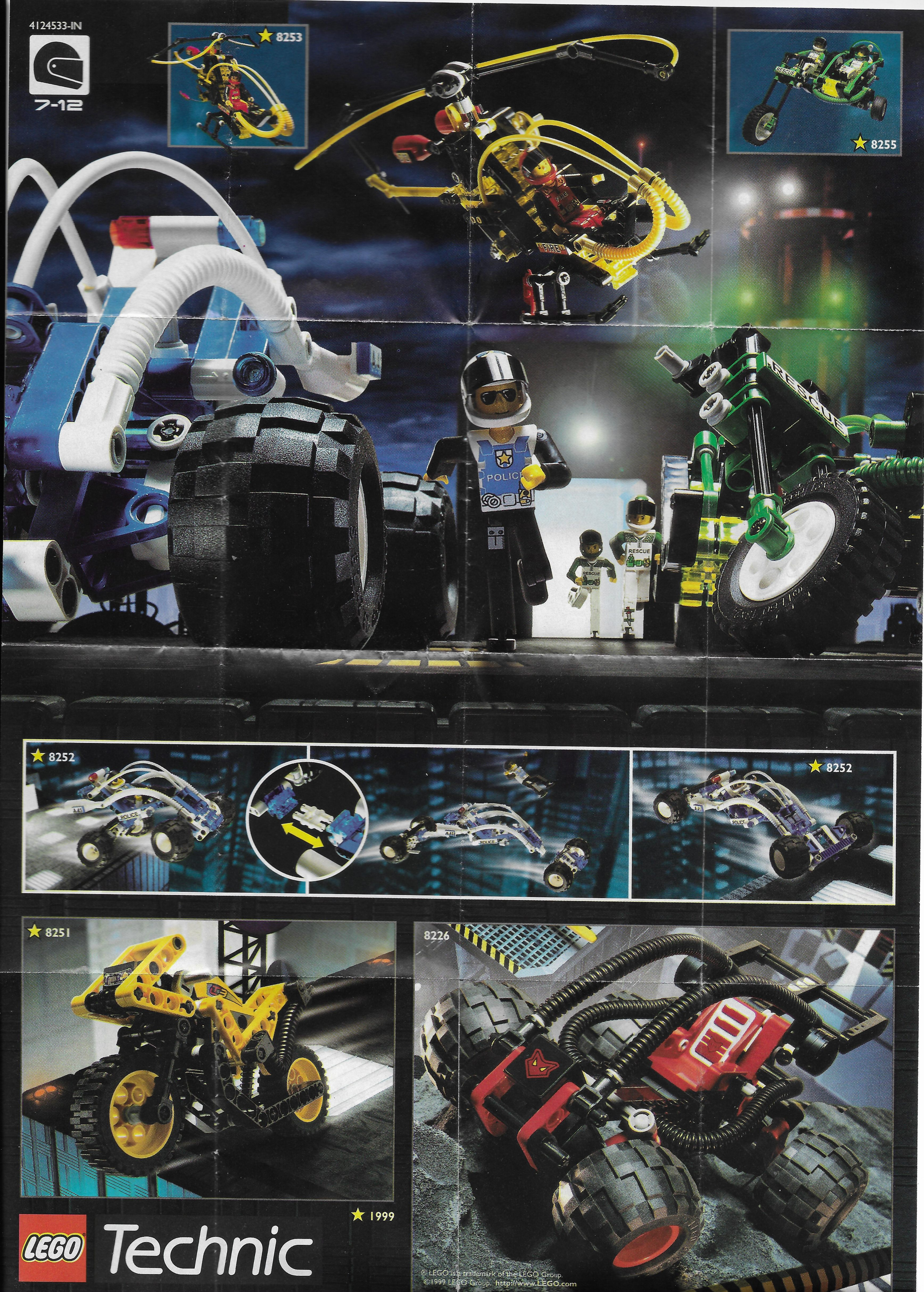 Lego Technic kihajtogatható insert 1999-ből