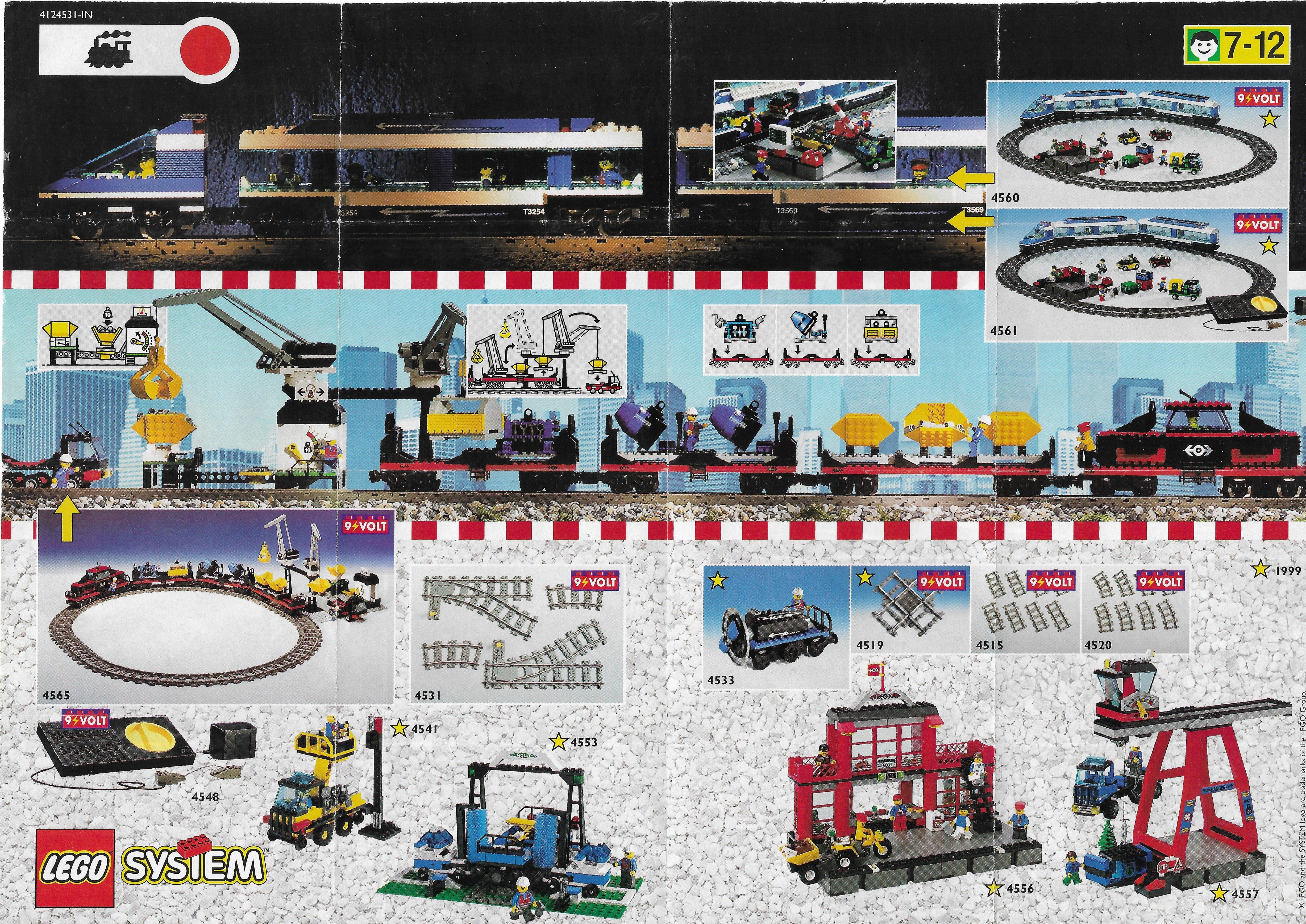 1999-es  Lego Train insert