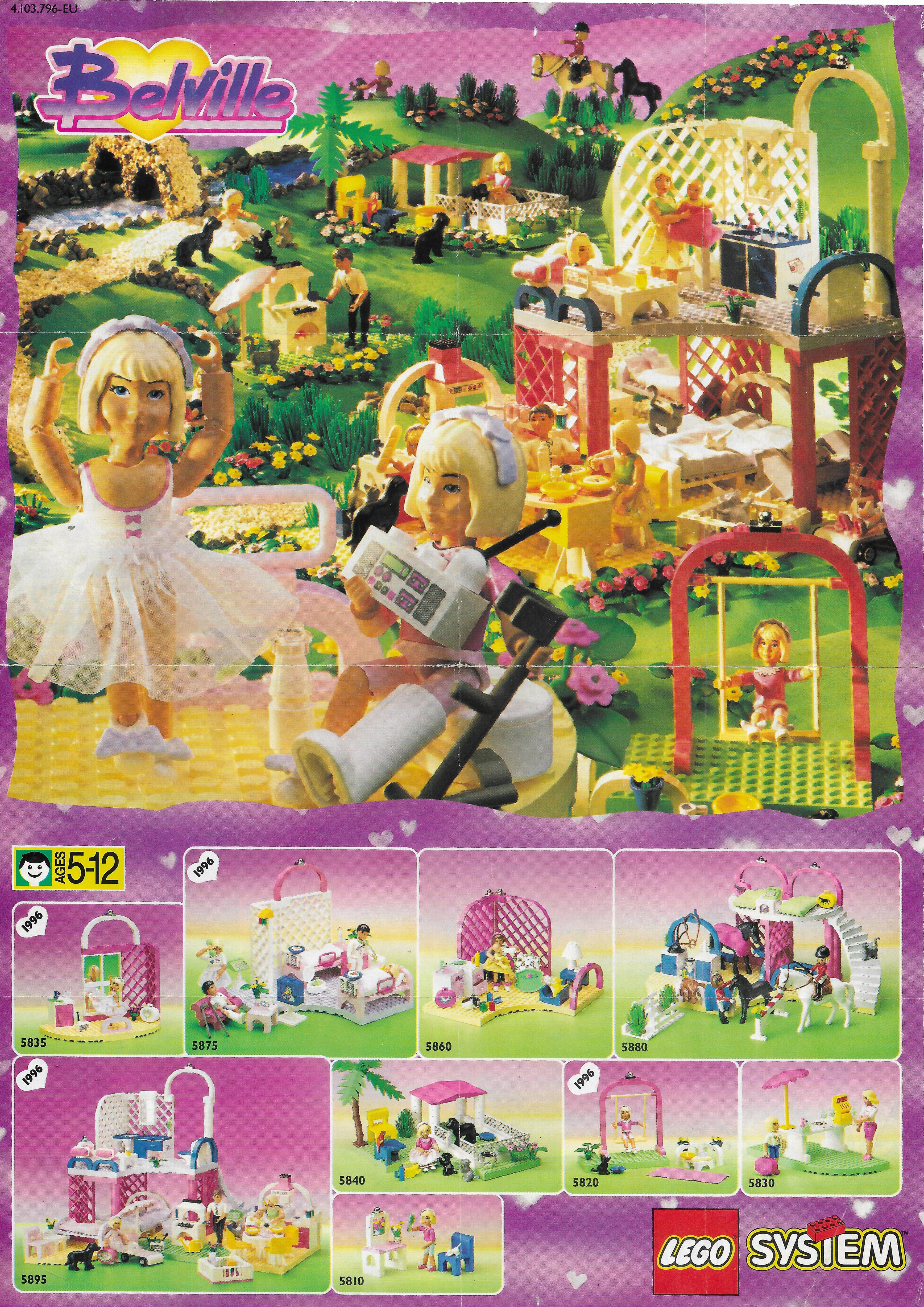 1996-os Lego Paradisa / Belville insert