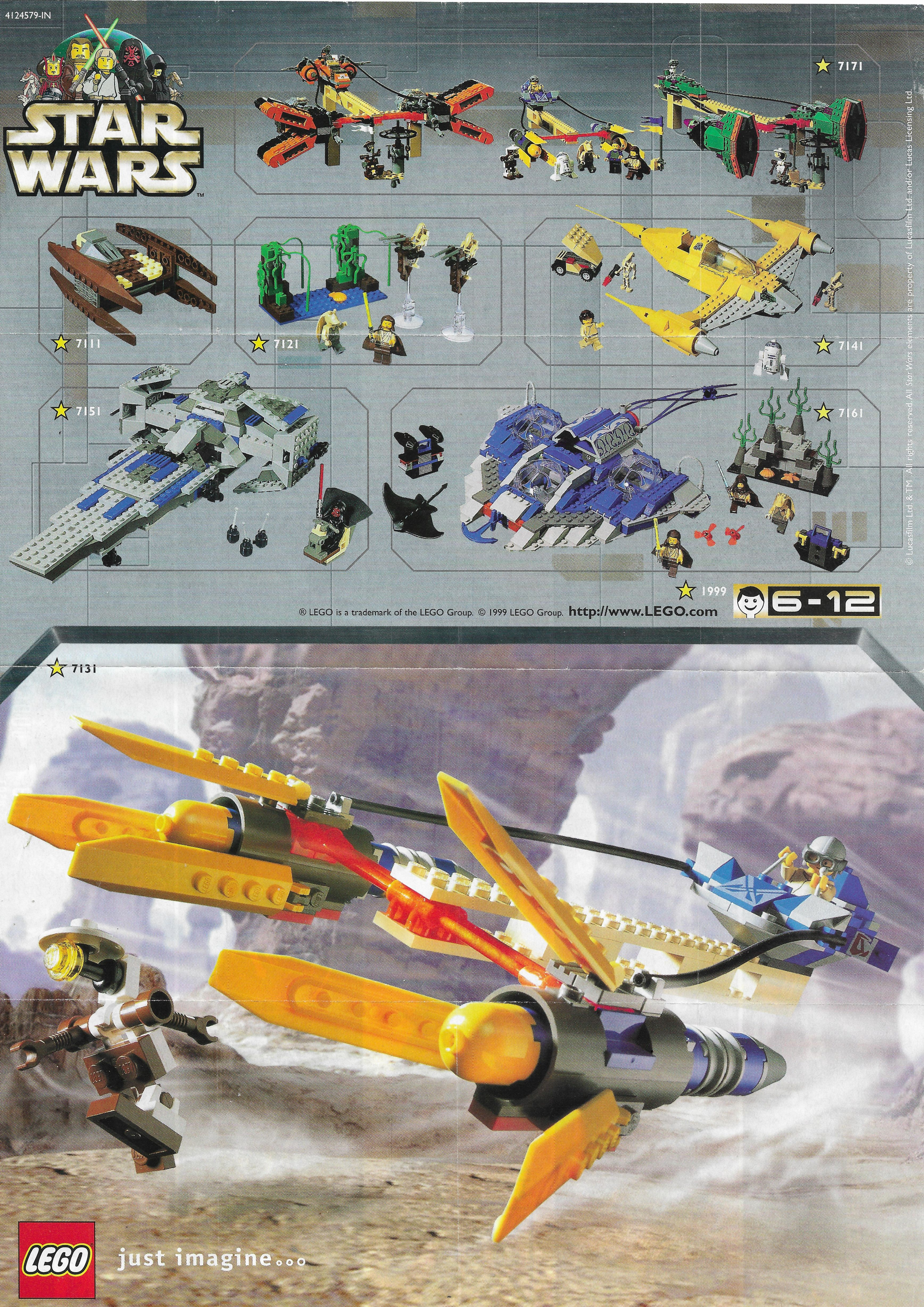 Lego Star Wars insert 1999-ből