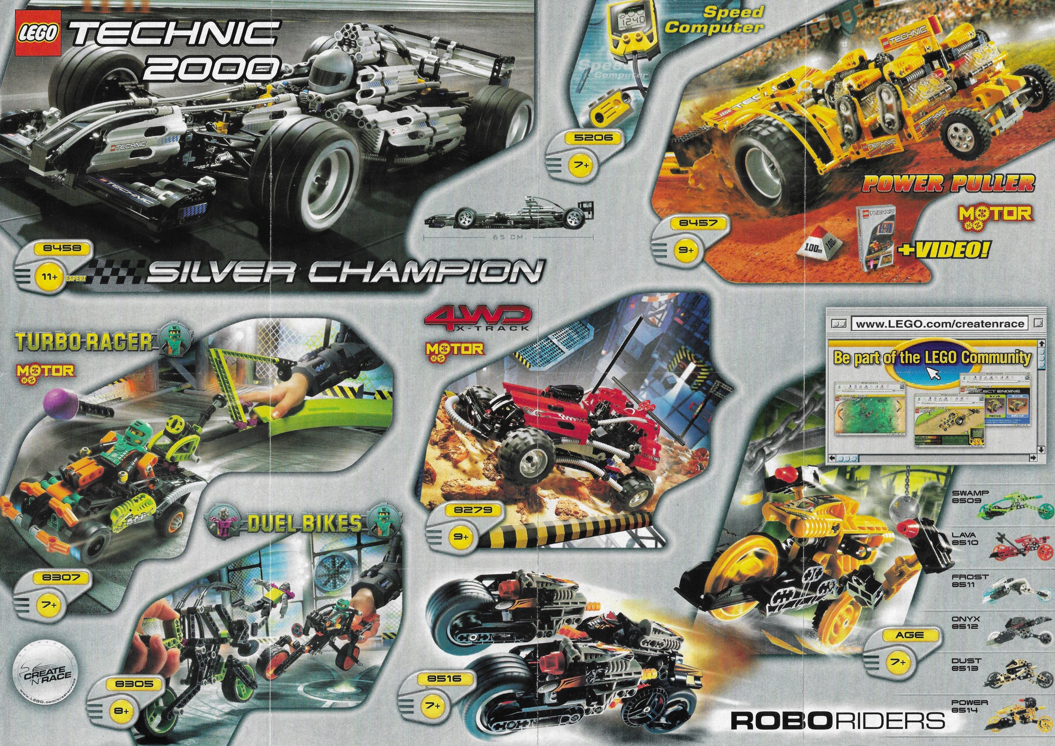 2000-2001-es Lego Technic insert