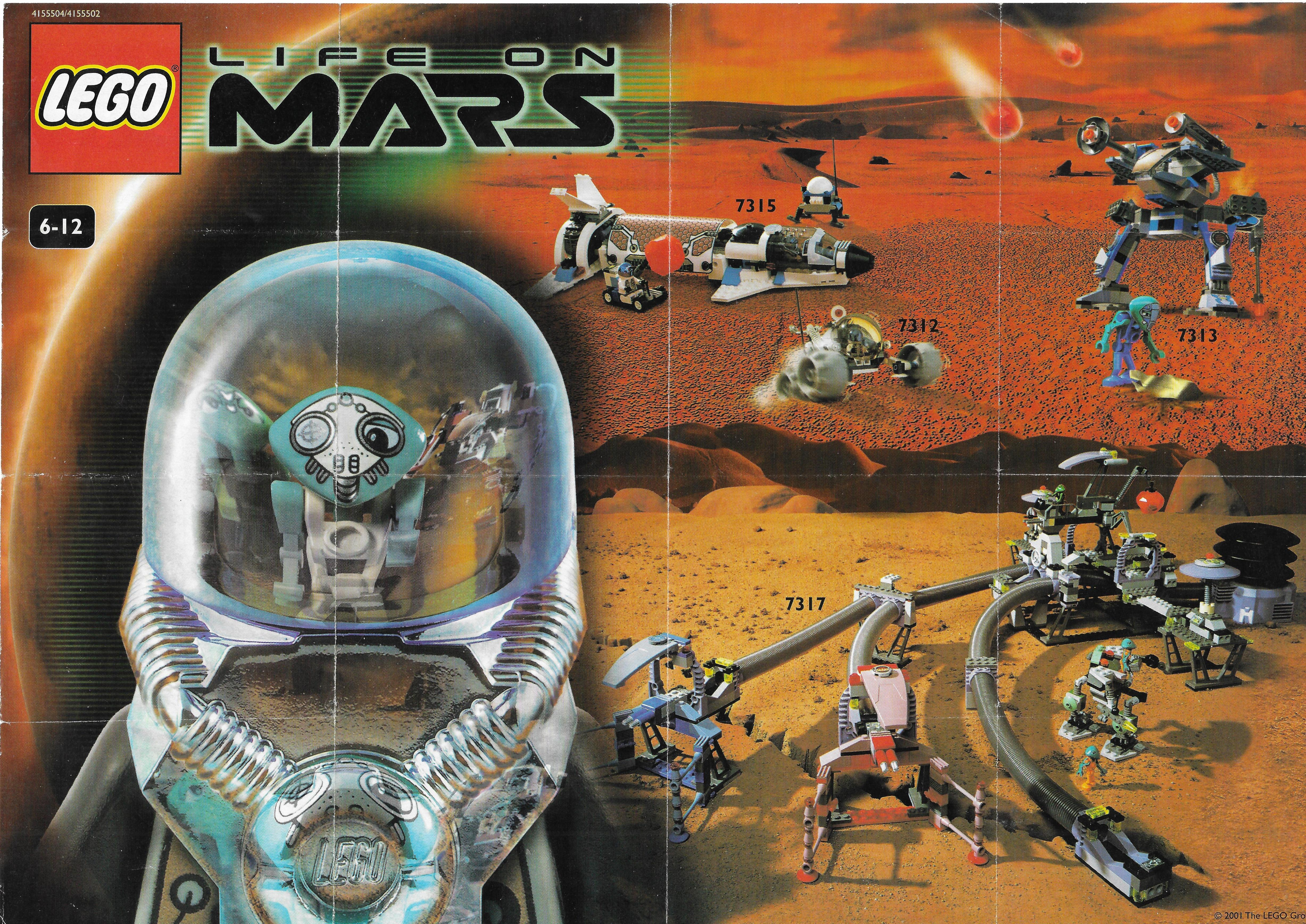 Lego Life on Mars insert 2001-ből