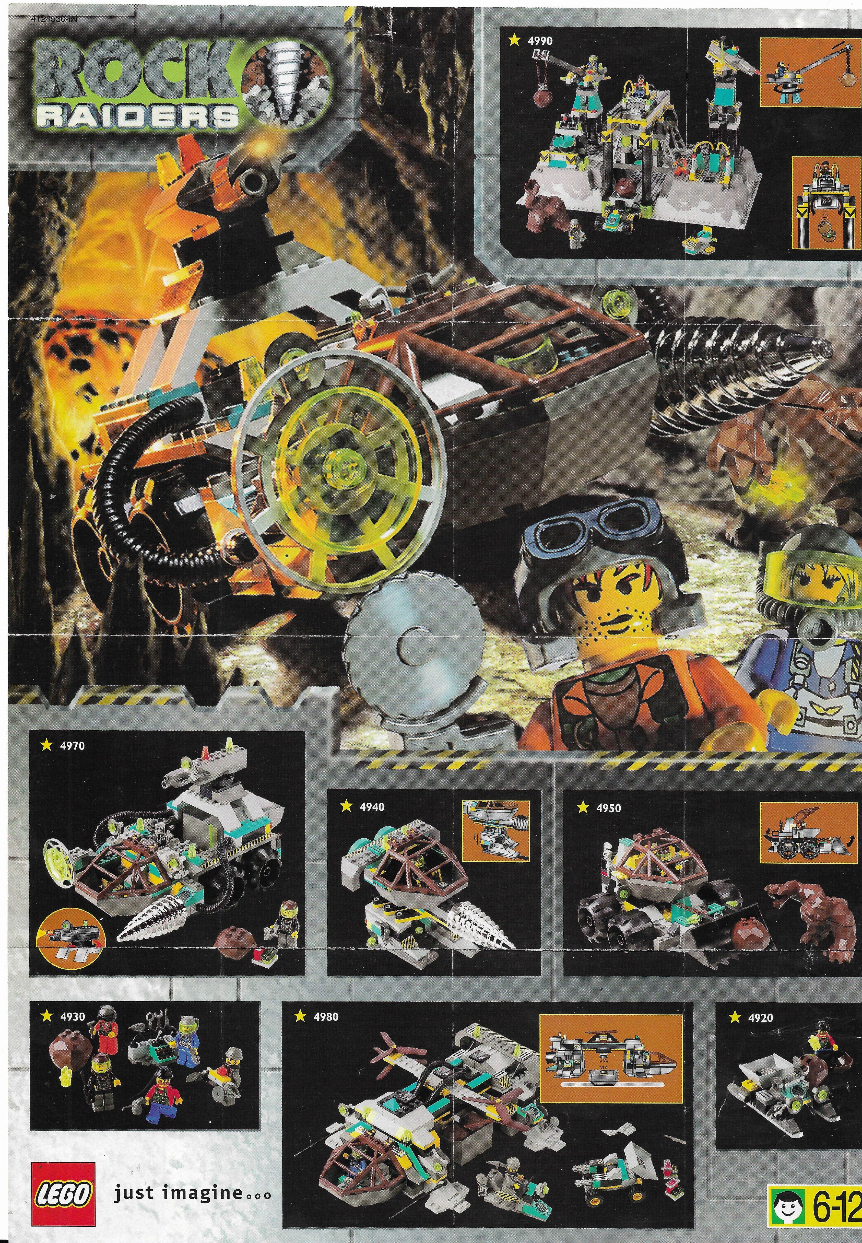 Lego Rock Raiders insert 1999-ből