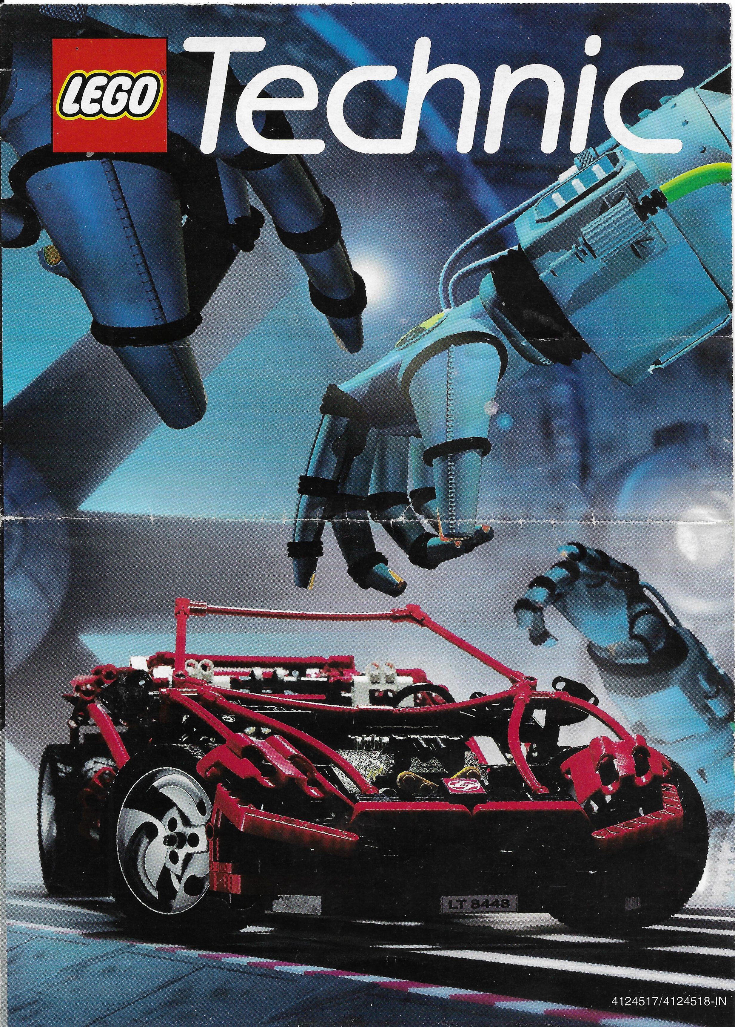 1999-es kihajtogatható Lego Technic katalógus