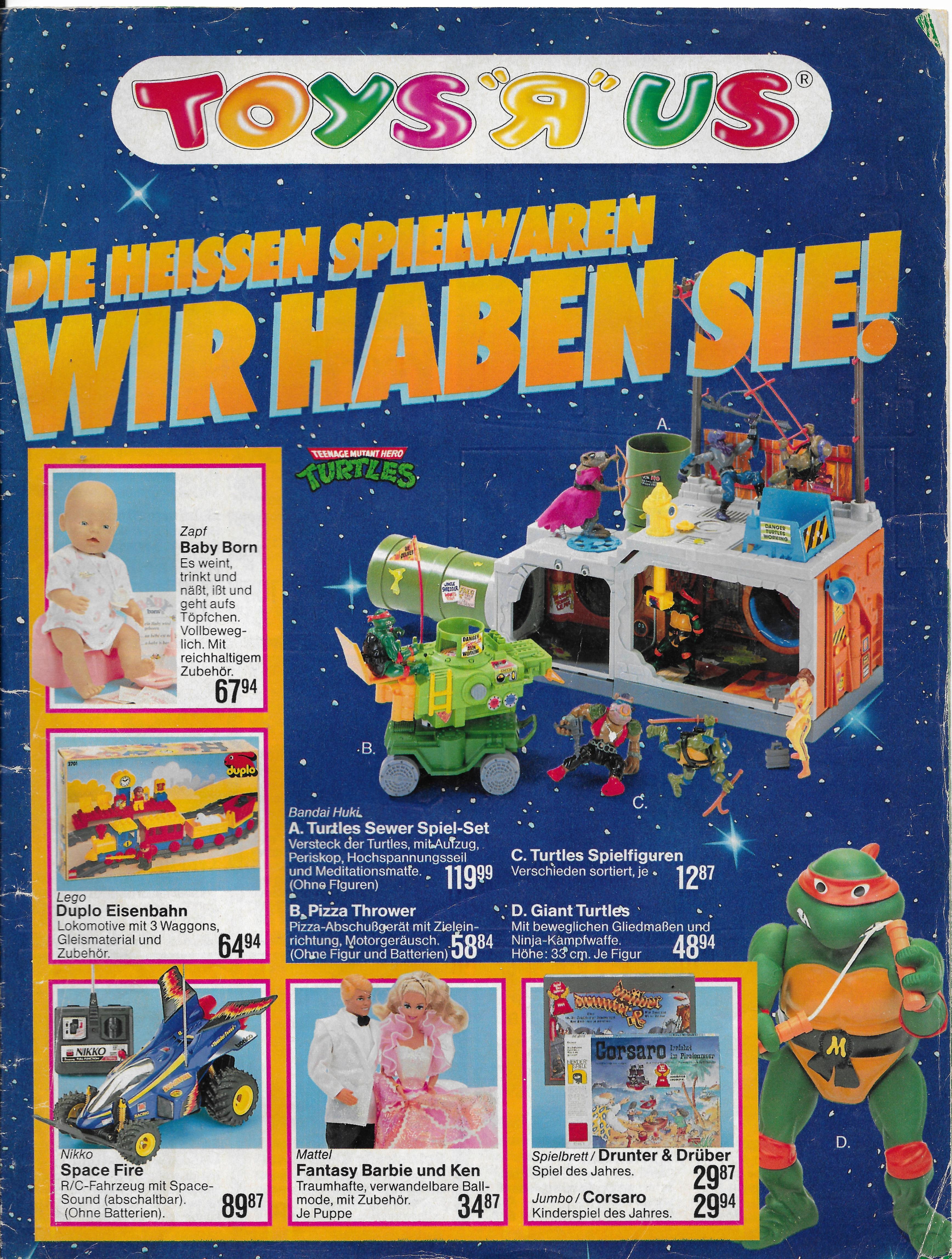 Német Toys R Us katalógus 1991-ből