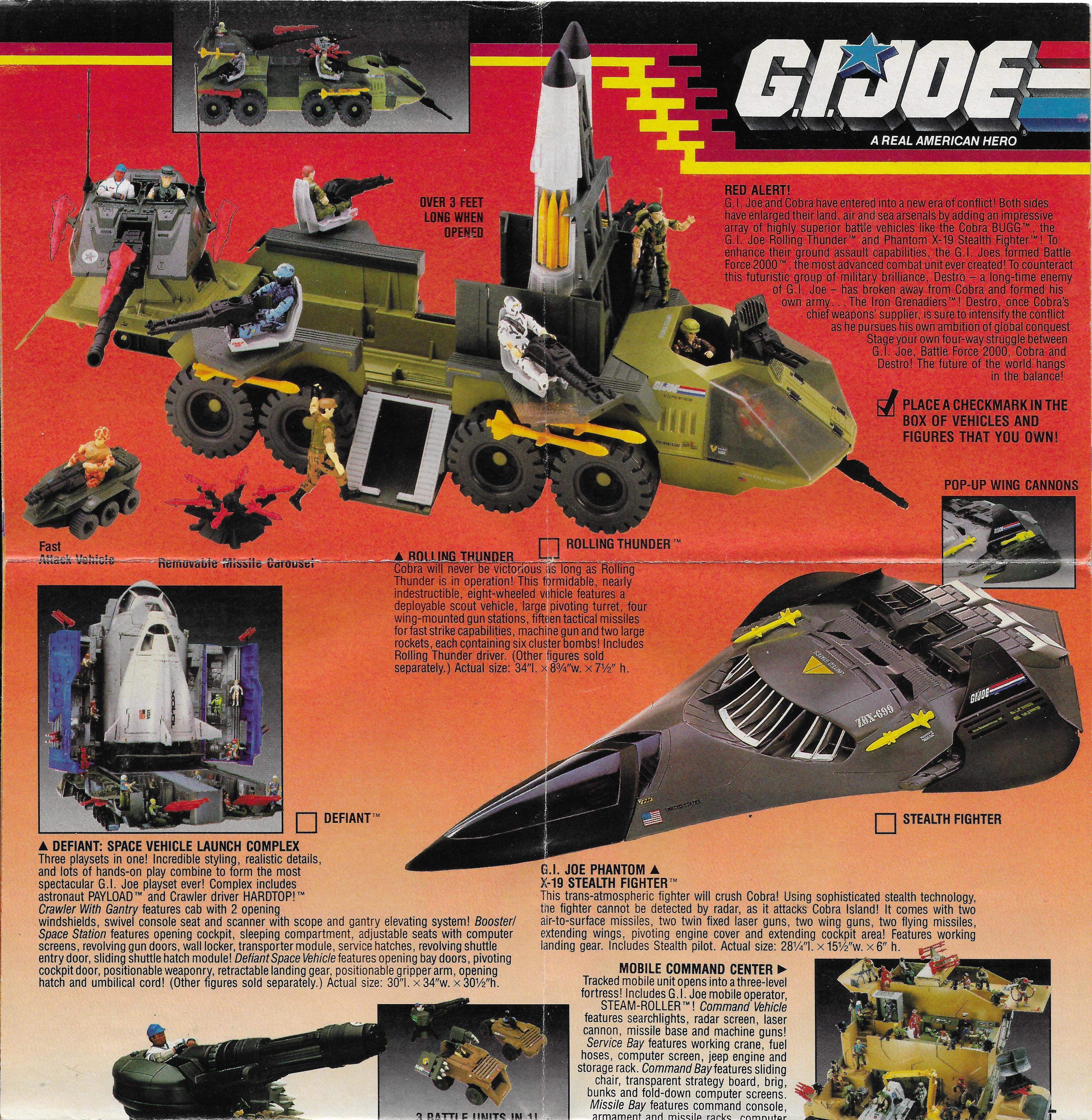 1988-as amerikai G.I.Joe katalógus