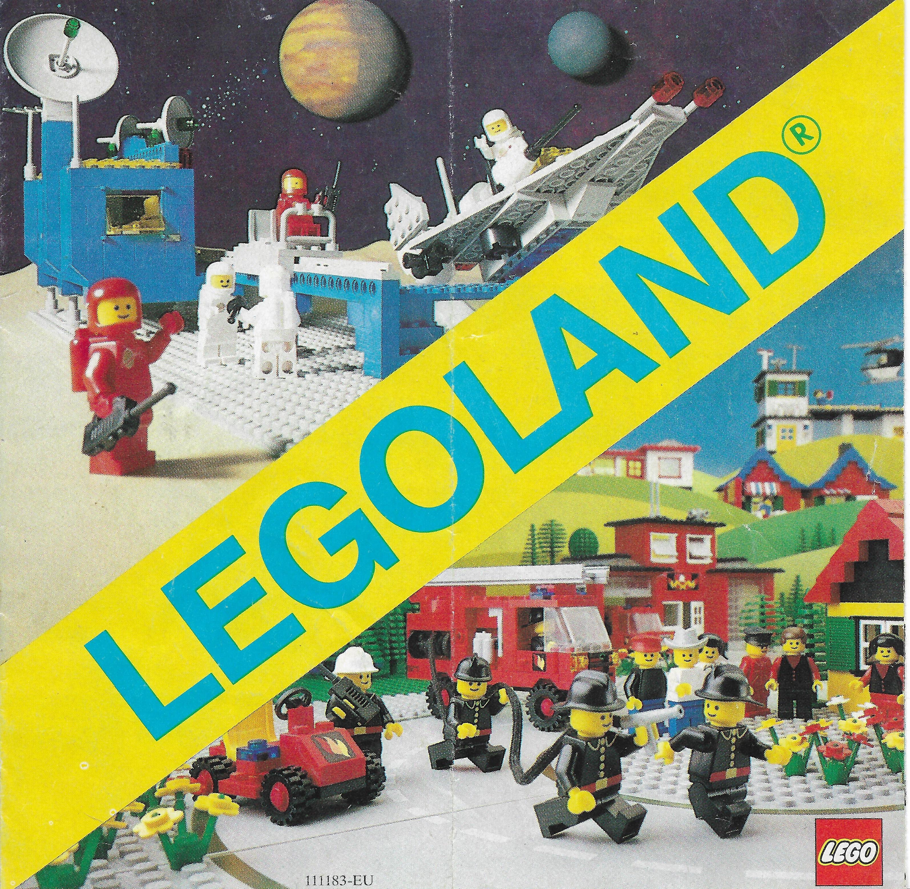 1981-es kihajtogatható Lego insert