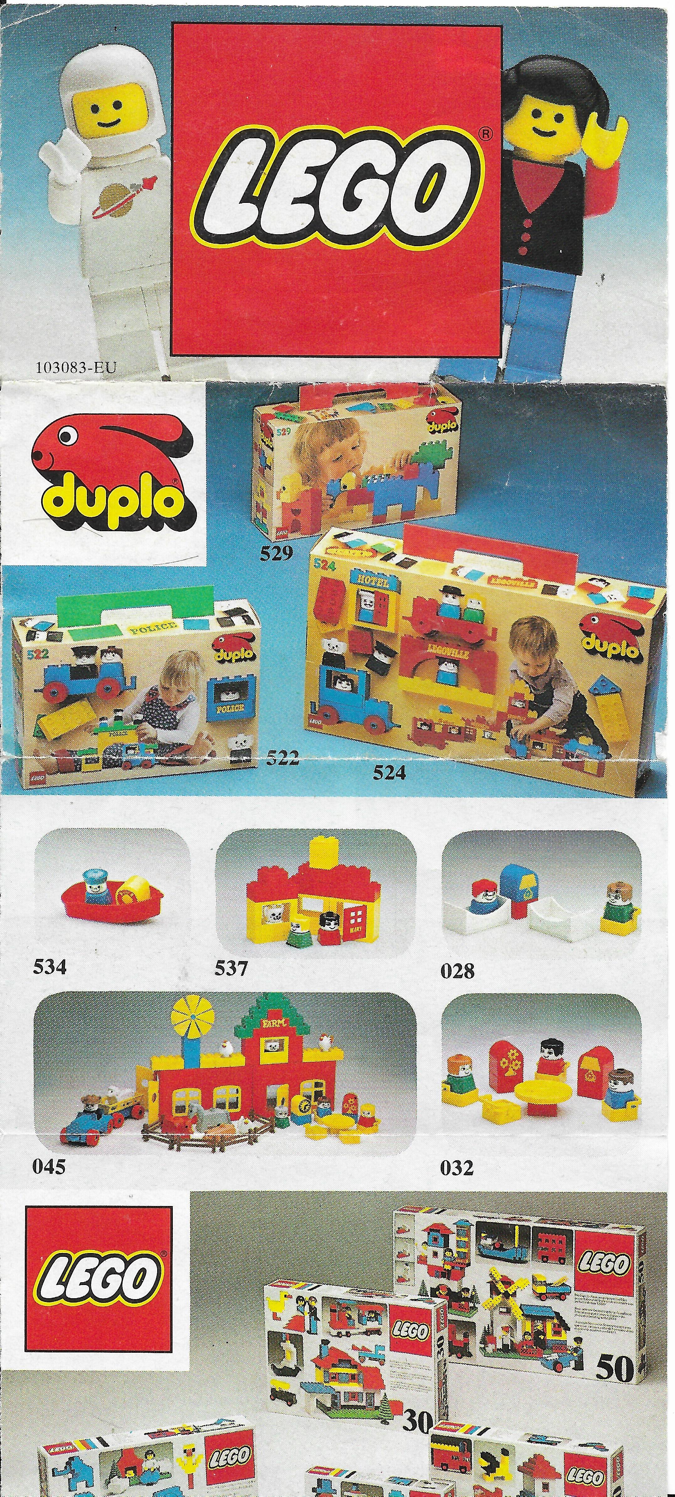 1979-es Lego insert