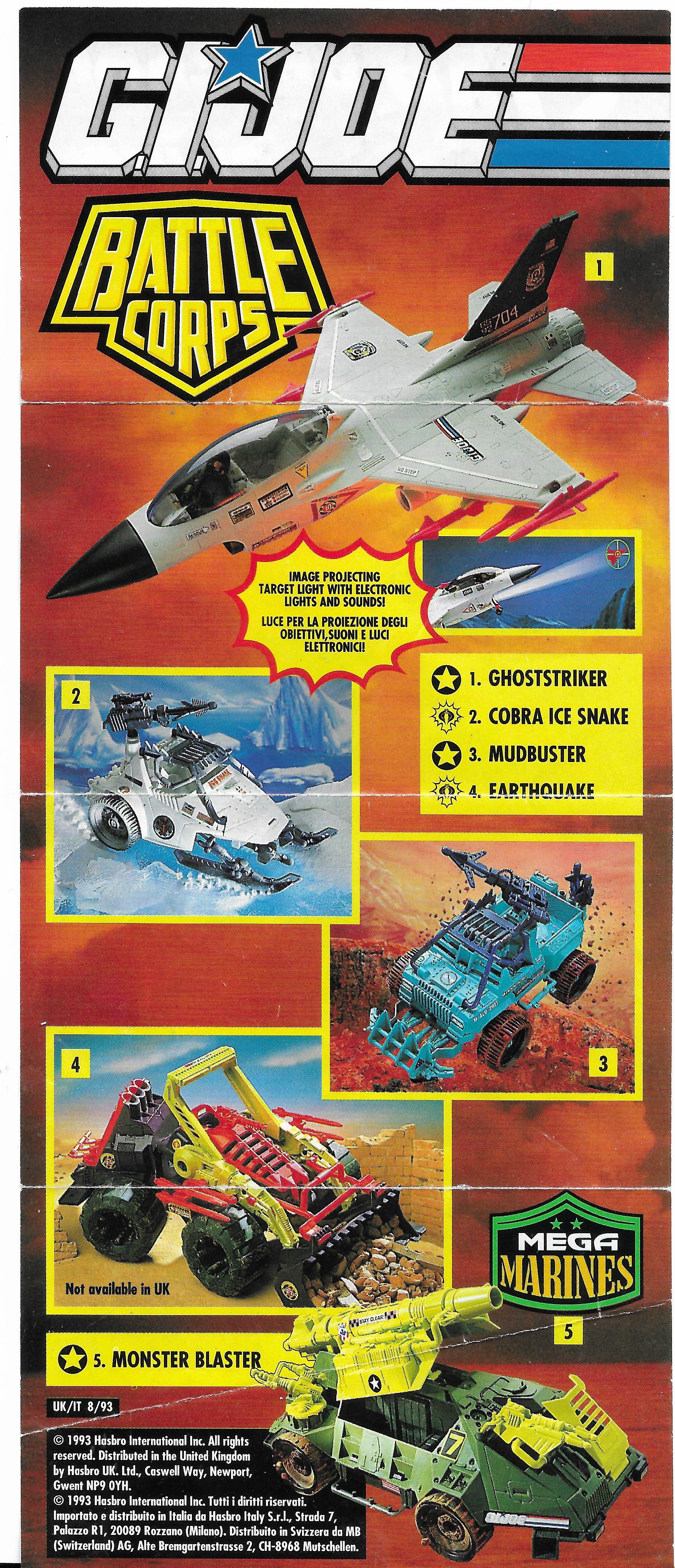 Egy járgányos G.I.Joe insert 1993-ból
