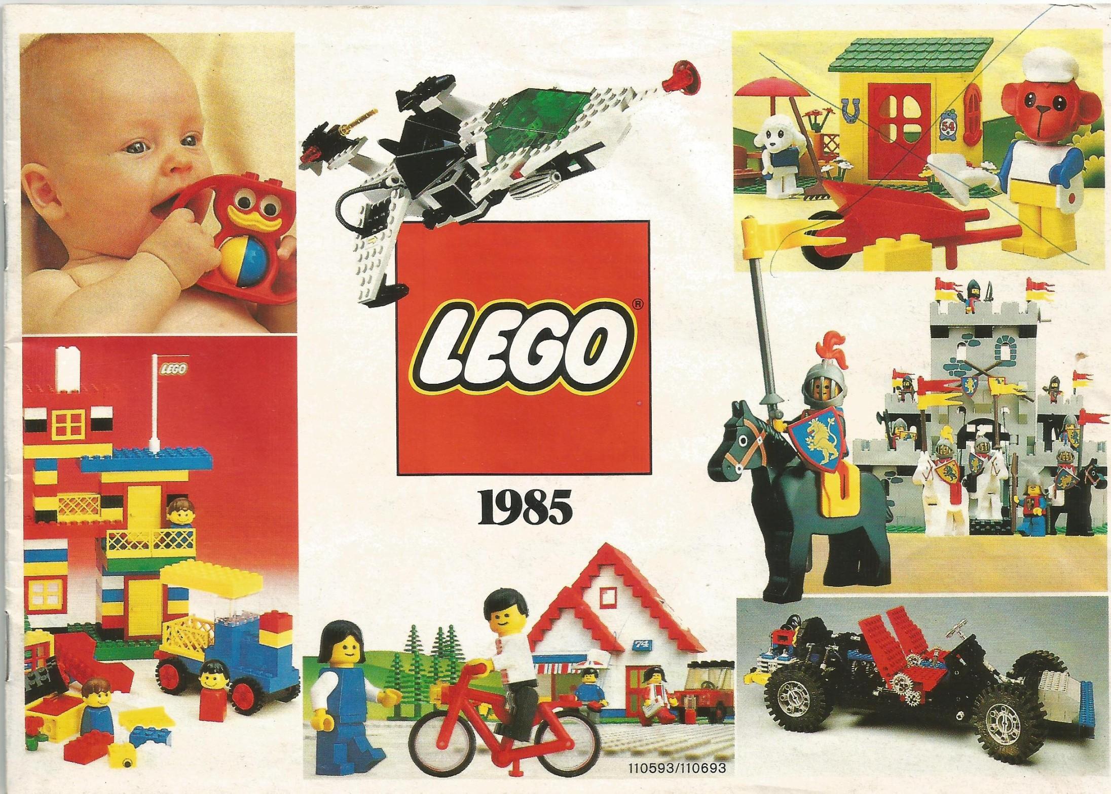 1985-ös 3 nyelvű (magyar) Lego katalógus
