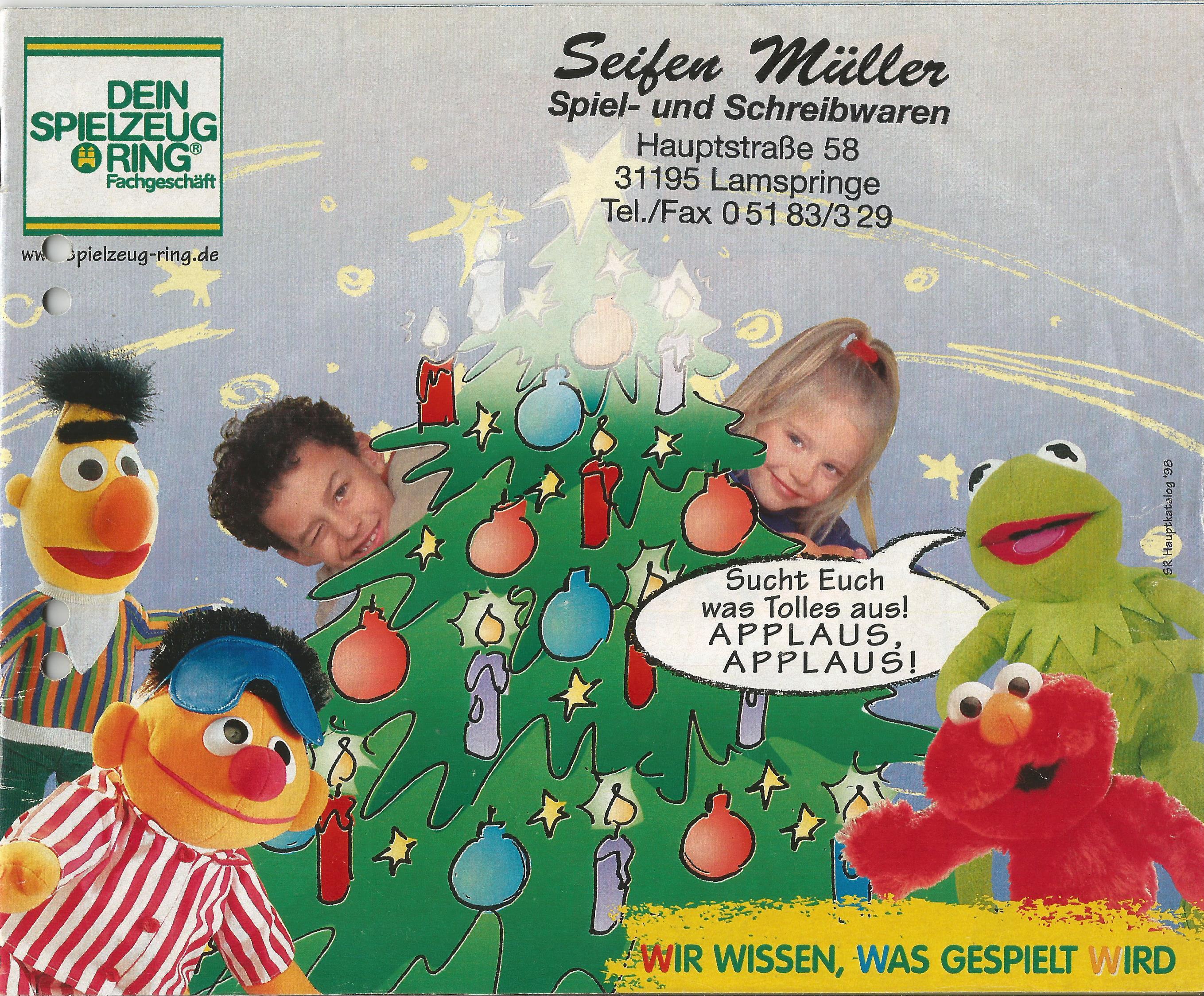 Német karácsonyi játékkatalógus 1998