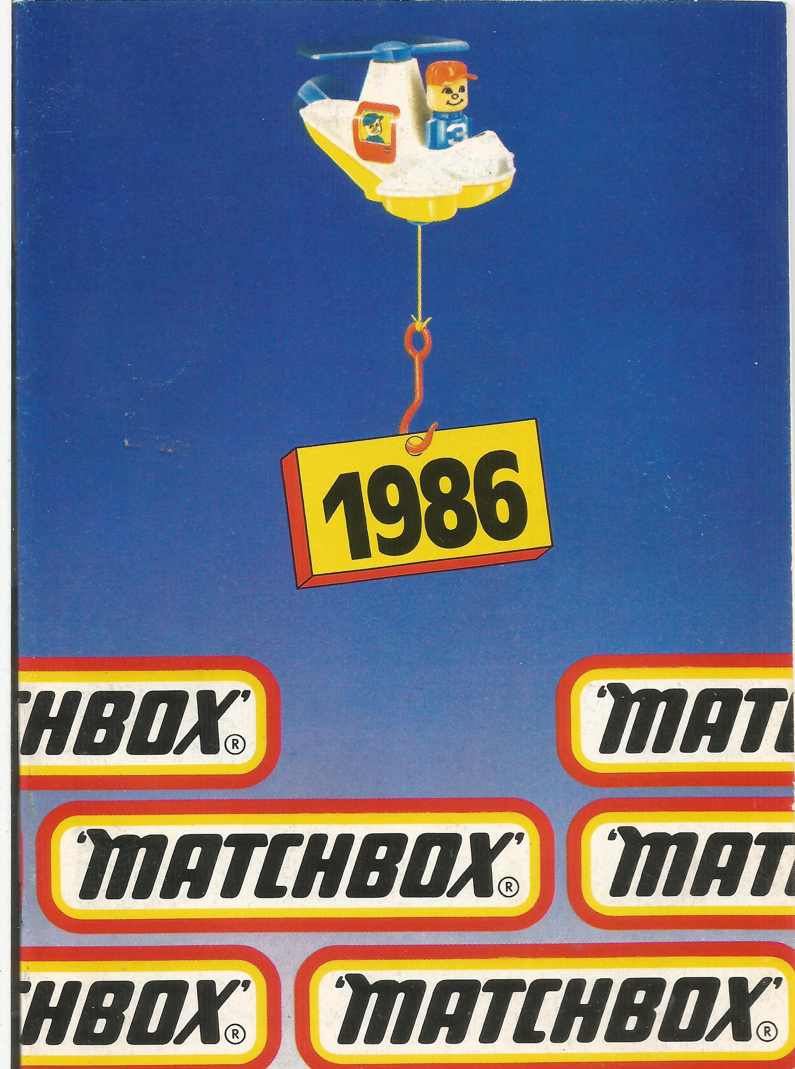 1986-os Matchbox katalógus