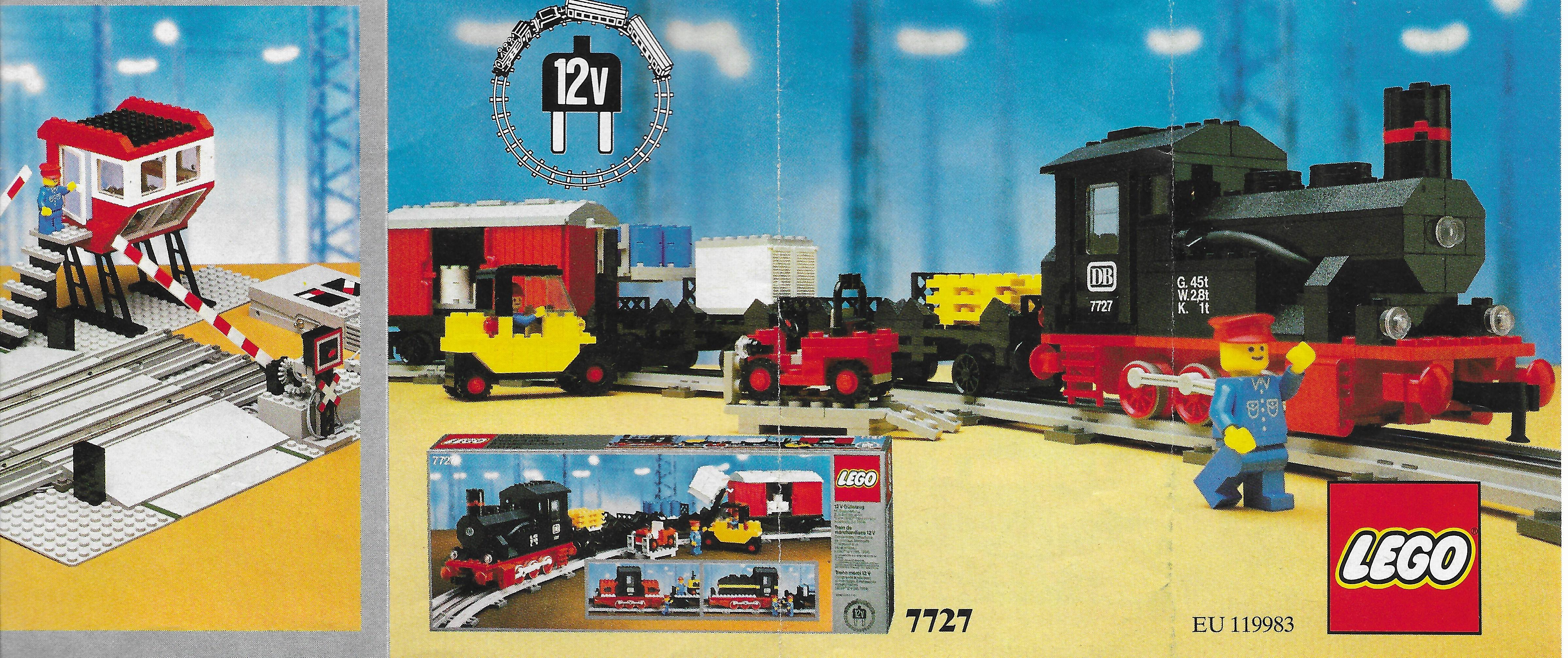 Lego Train kihajtogatható insert 1983-ból