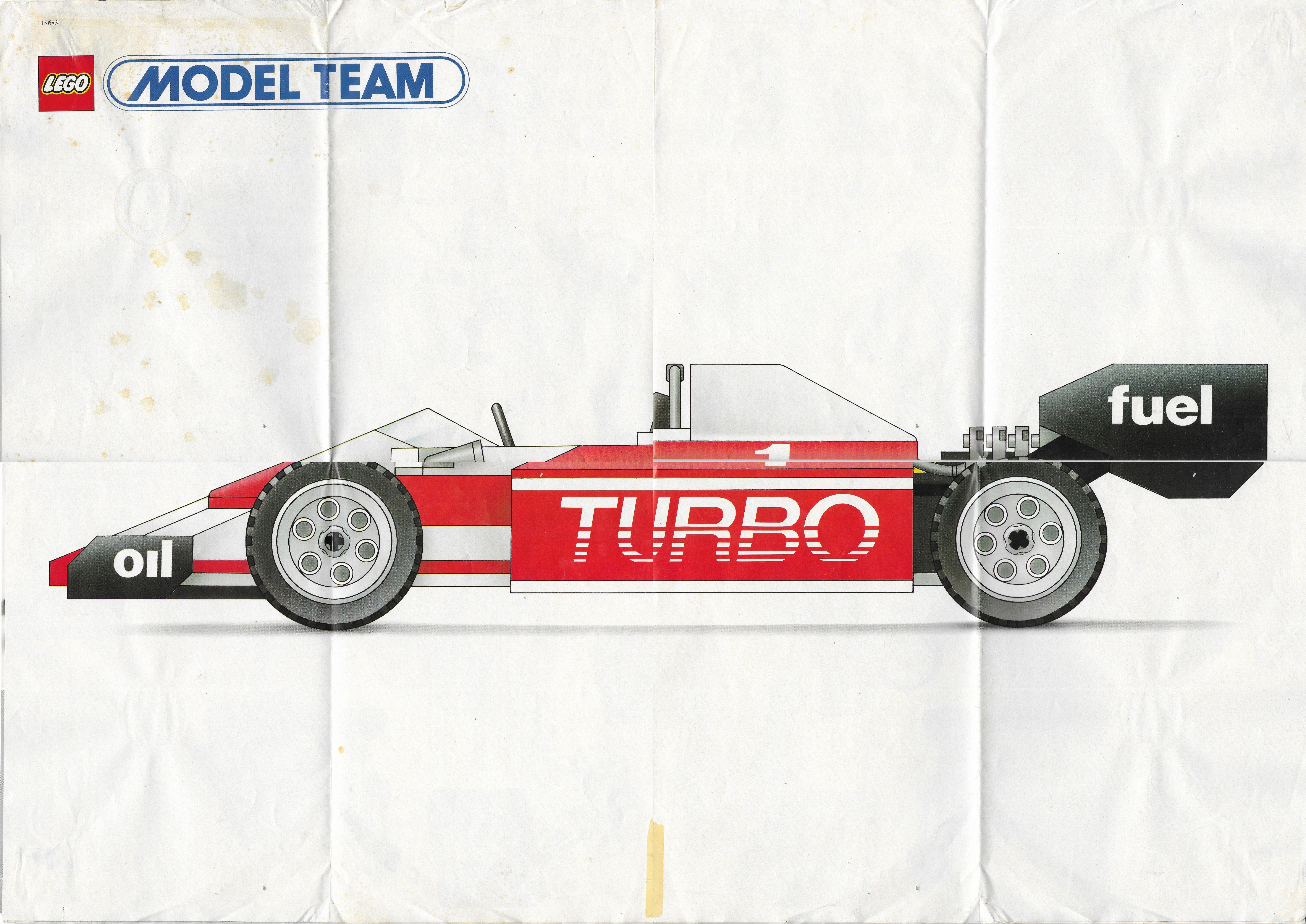 Lego Model Team poszter 1986-ból
