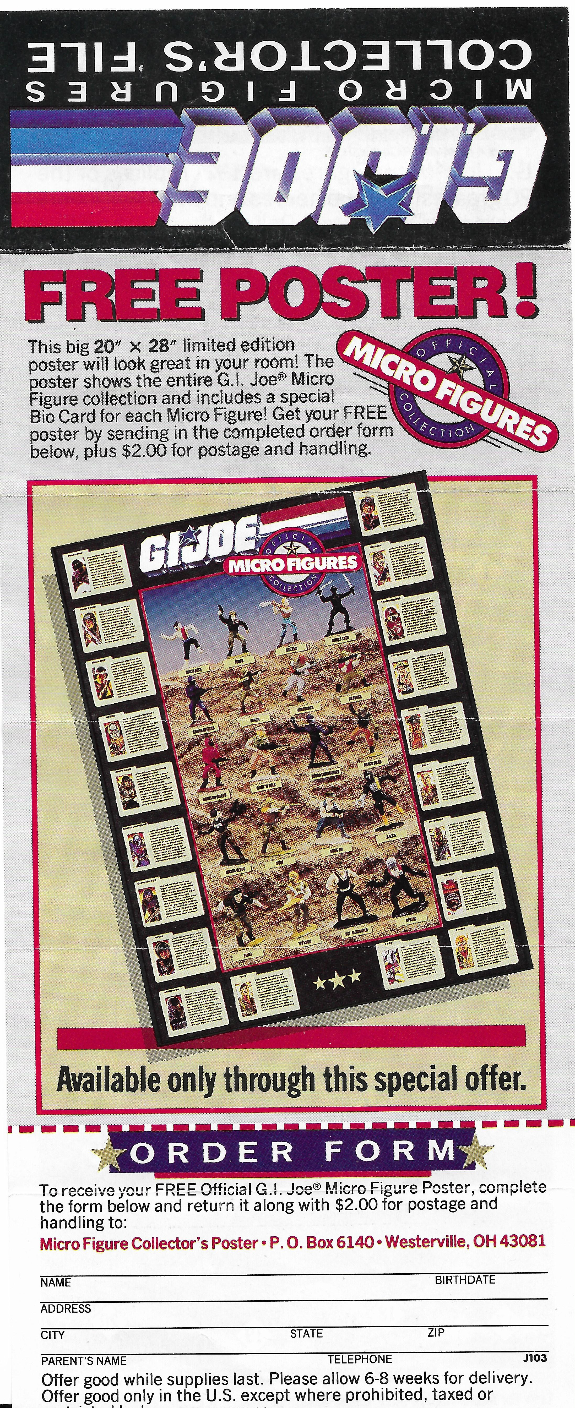 G.I.Joe Micro Collection insert 1988-ból