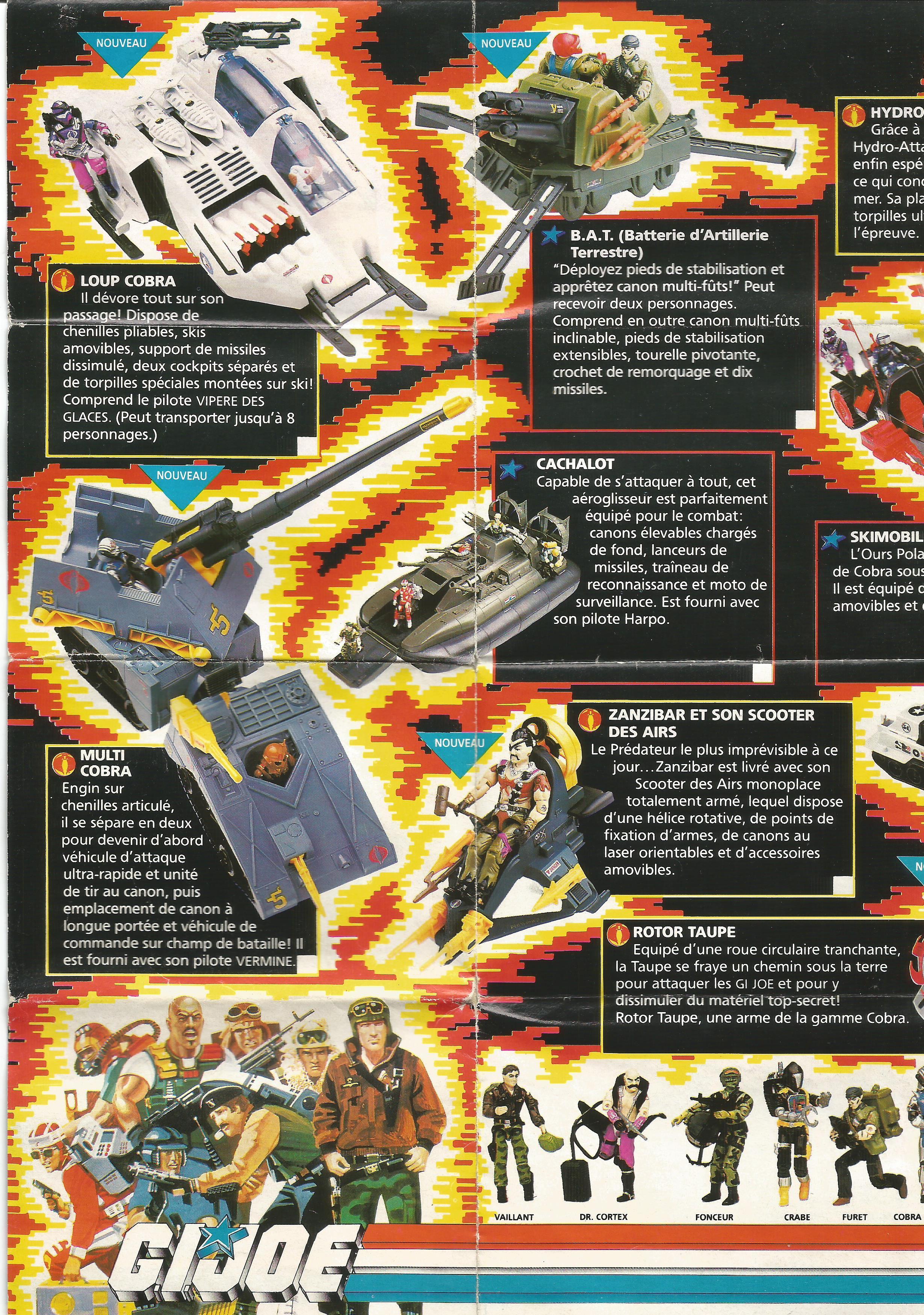 Francia G.I.Joe katalógusok 1988-89-ből