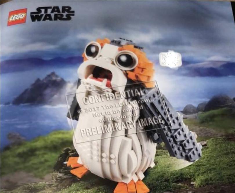 Rövidhír: A Lego Star Wars 75203 Porg immáron hivatalosnak tűnik
