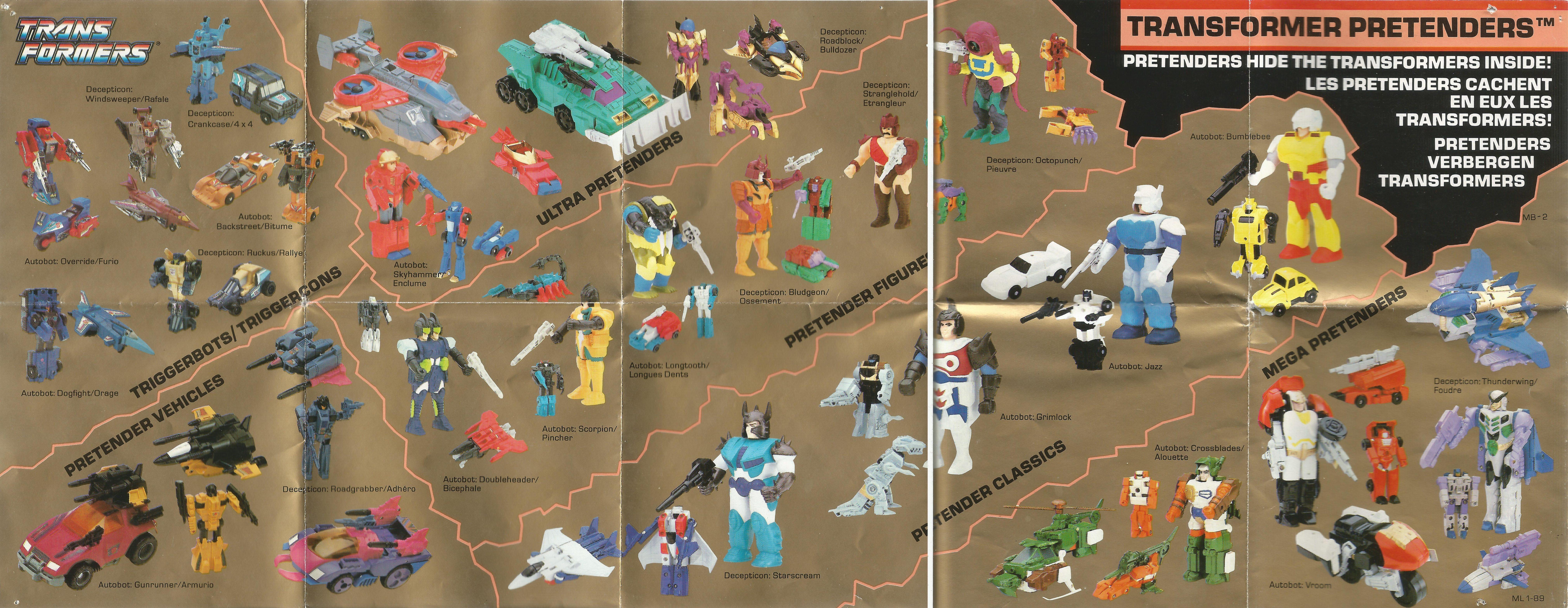 Európai Transformers katalógus 1989-ből
