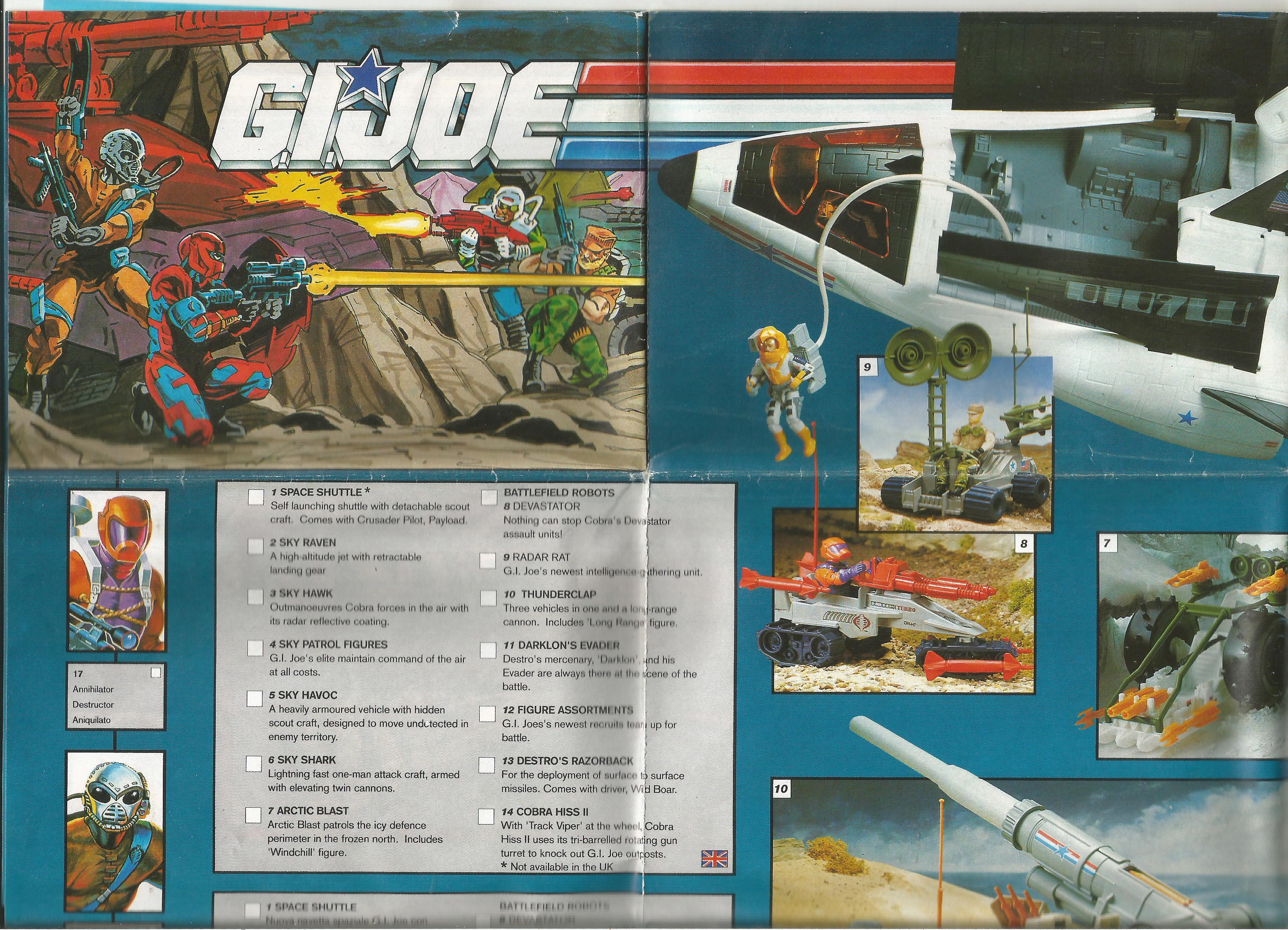 Európai, három nyelvű G.I.Joe katalógus - 1991
